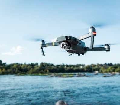 Invest in Drone Training - Drone over water